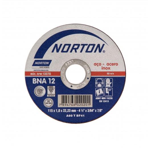 DISCO CORTE 125X1,6X22,23 BNA12 AZUL 2 NORTON
