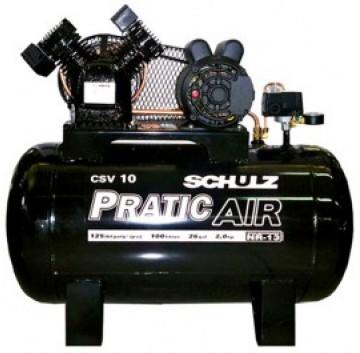 COMPRESSOR DE AR CSV-10/100 - PRATIC AIR TRIFASICO  - SCHULZ