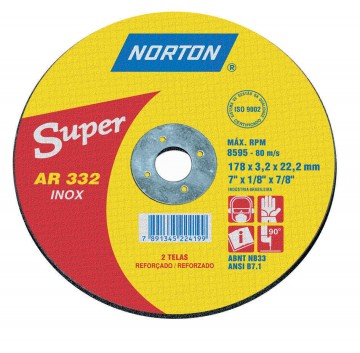 DISCO CORTE 178X3,0X22,22 AR332 SUPER  NORTON