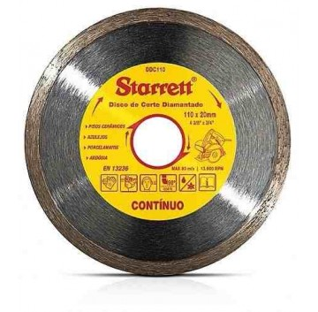 DISCO DE CORTE DIAMANTADO CONTINUO 110MM STARRET DDC110