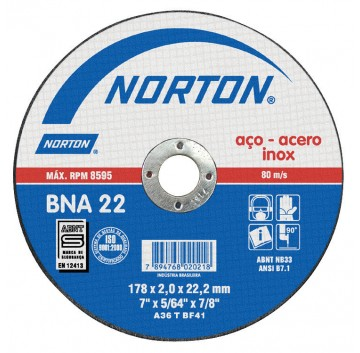 DISCO CORTE 178X2,0X22,22 BNA22 AZUL 2 NORTON