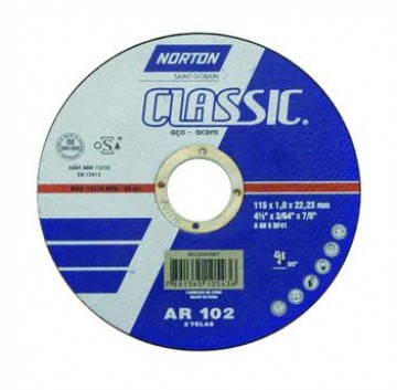 DISCO DE CORTE 115X 1,0 X 22,2MM  AR102  CLASSIC  NORTON