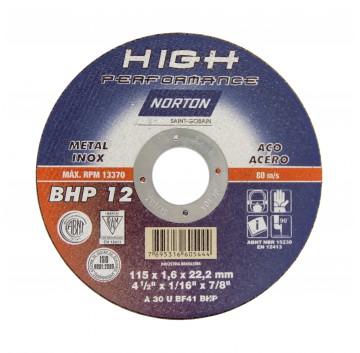 DISCO CORTE 115X1,6X22,22 BHP12 ALTA PER NORTON