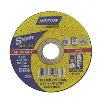 DISCO CORTE 178X3,0X22,22 AR312 SUPER  NORTON