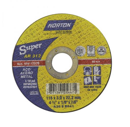 DISCO CORTE 178X3,0X22,22 AR312 SUPER  NORTON
