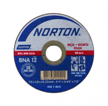 DISCO CORTE 115X1,6X22,22 BNA12 AZUL 2 NORTON