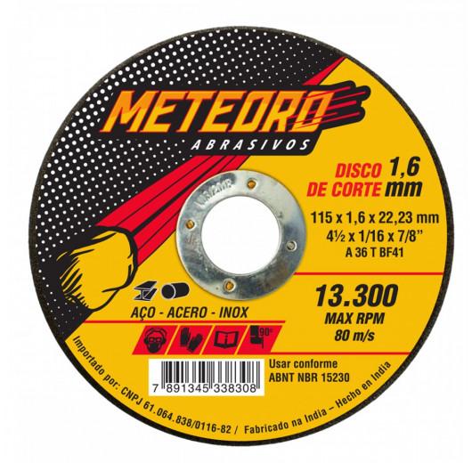 DISCO DE CORTE T41-115X1.6X22.23 Meteoro