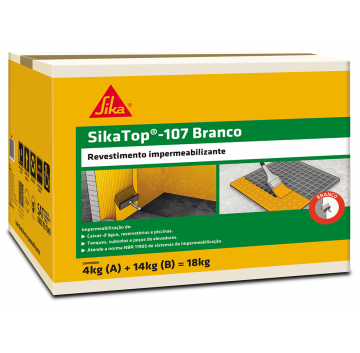 SikaTop - 107 Branco - Caixa 18 KG